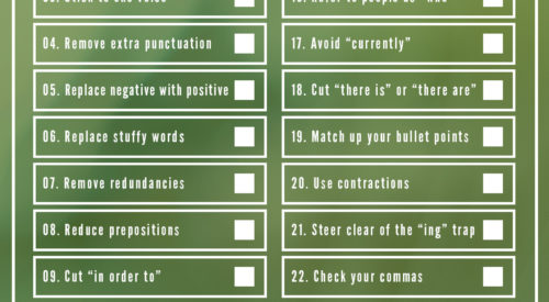 A Useful Editing Checklist for Writers