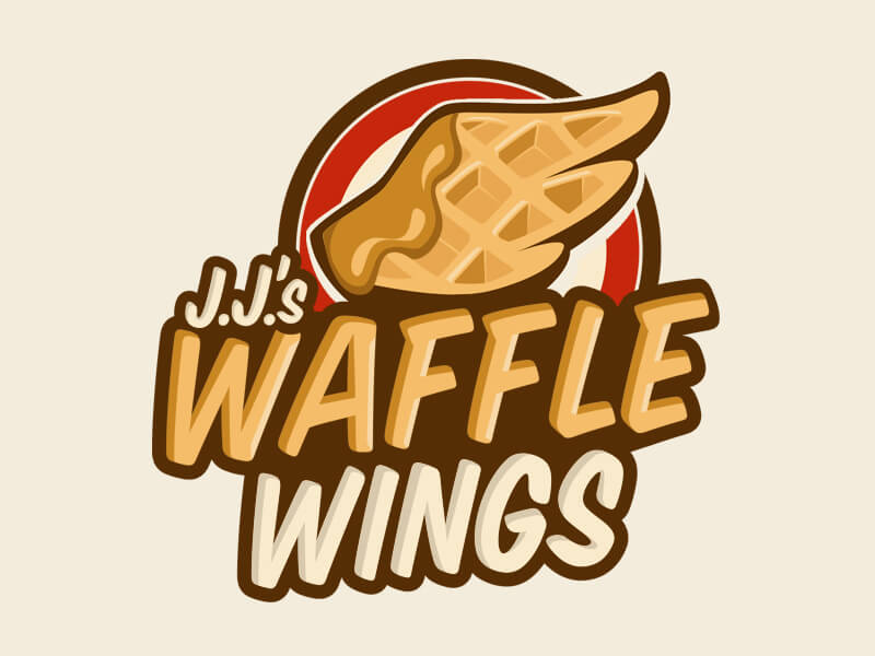 waffle-wings-logo-illustration-design