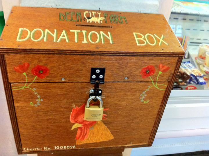 """Donation box, Deen City Farm"" by Howard Lake on Flickr"
