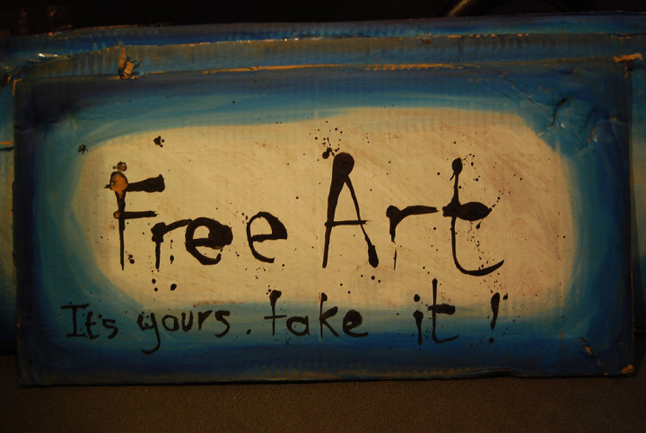 """free art sign"" by my dog sighs on Flickr"