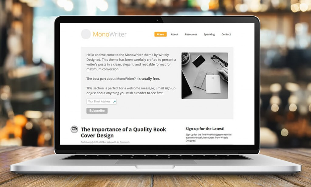MonoWriter™ WordPress Theme