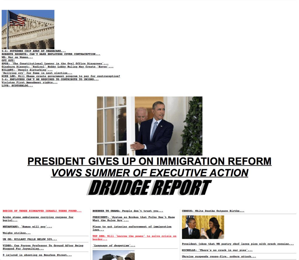 Drudge Report Site Design