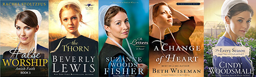 An example of the striking similarities between titles in the Amish fiction market.