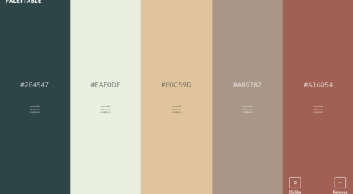 Palettable.io: A Free and Simple Tool for Quickly Creating Color Palettes