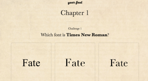 Know Your Font: A Fun Little Game to Put Your Font Knowledge to the Test