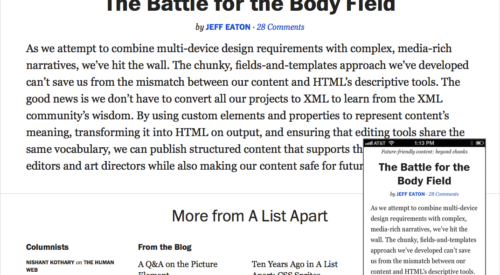 Balancing Line Length and Font Size in Responsive Web Design