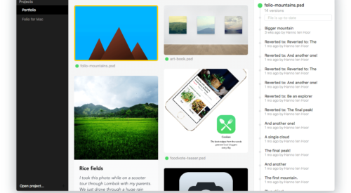 Folio: Mac-based Version Control for Designers
