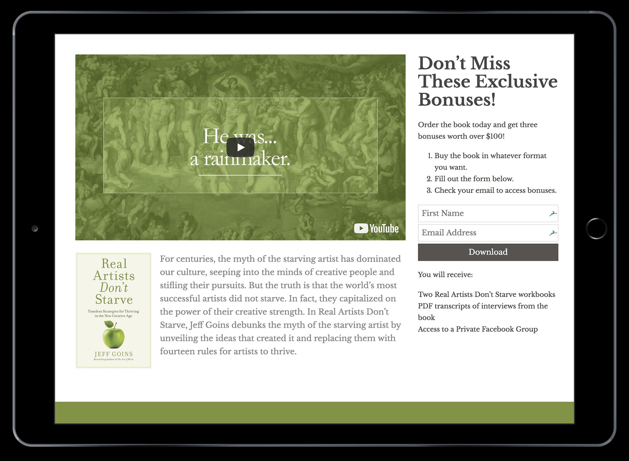 Book Launch Website