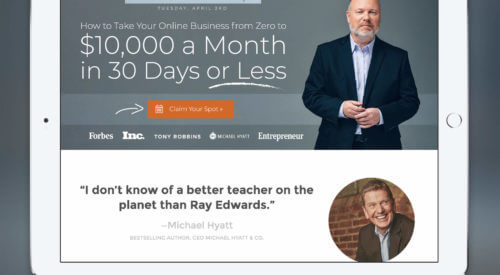 The Ray Edwards Website Redesign